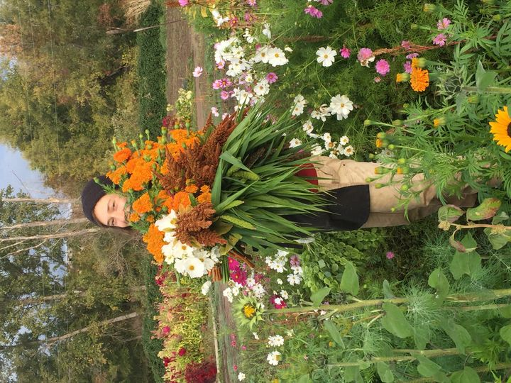 picking fresh flower orders in late October