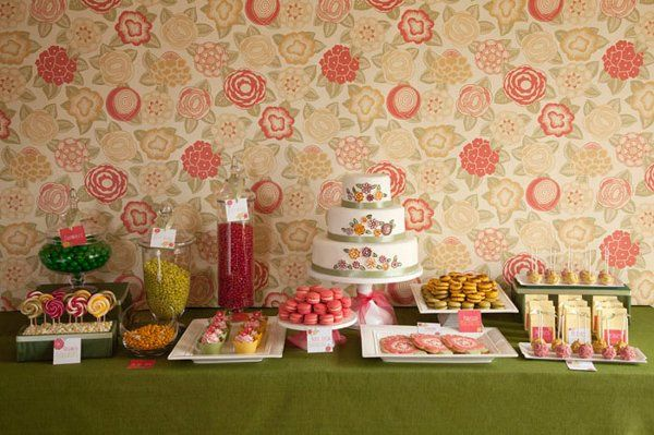 New! The Petites Bouchees stylized dessert table.