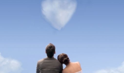 Couple's gazing at the sky
