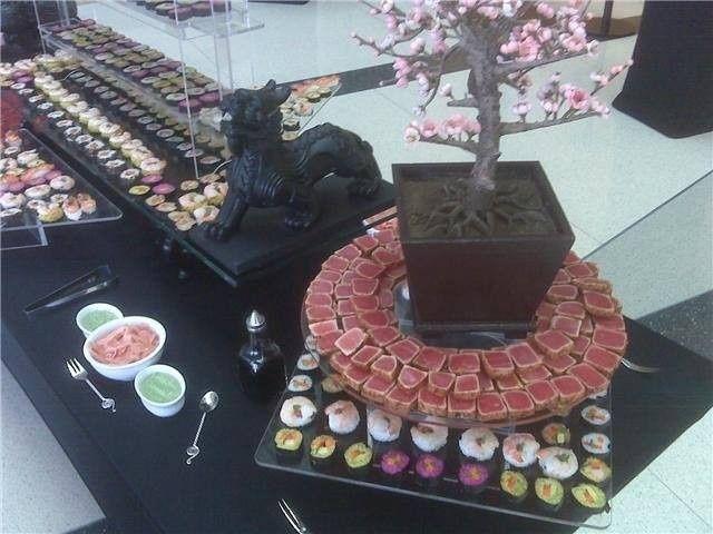 Sushi  buffet area