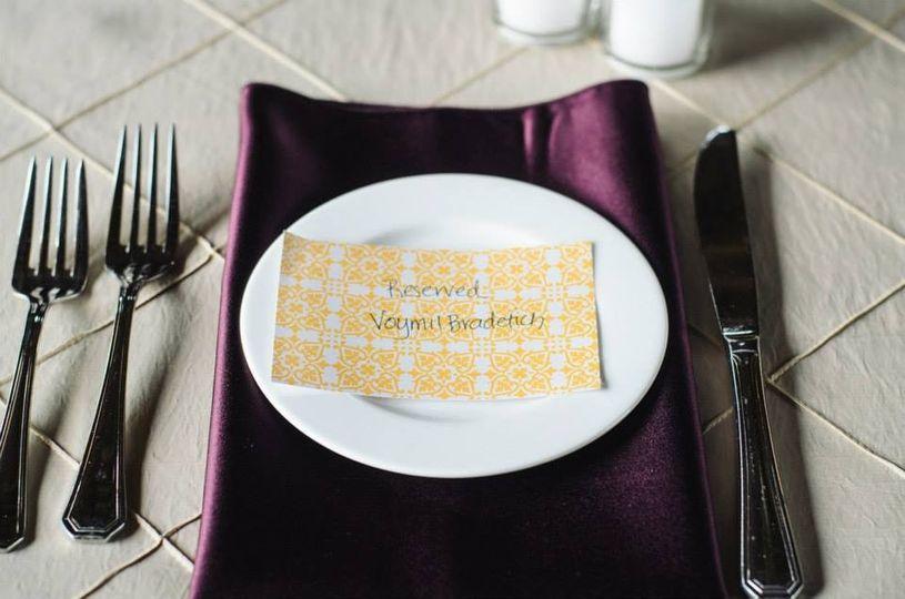 Wedding plate setup