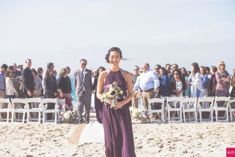 Bridesmaid enjoying the moment