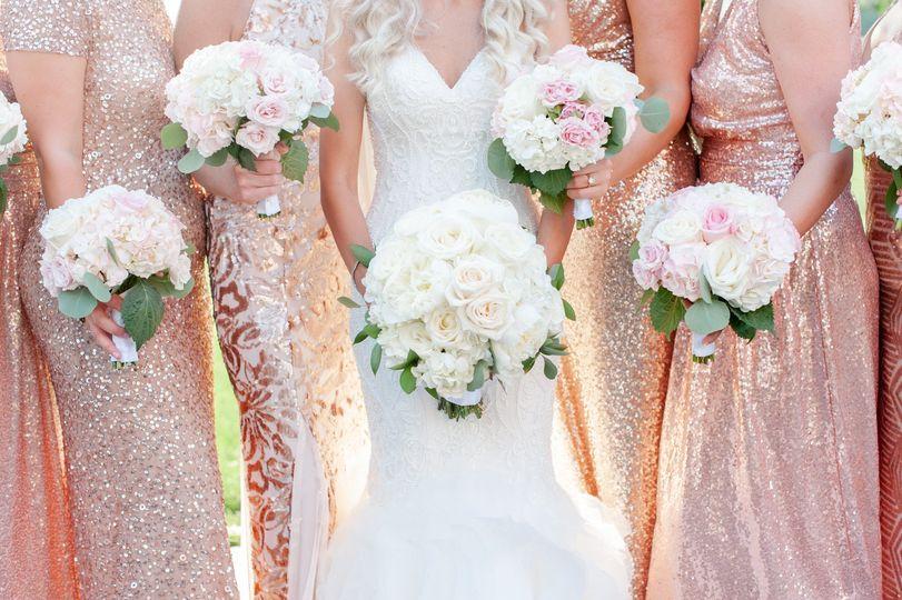 Rose Gold Sequin wedding