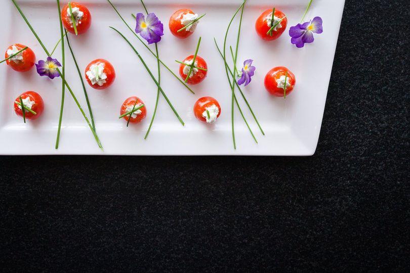 Boursin Stuffed Cherry Tomato