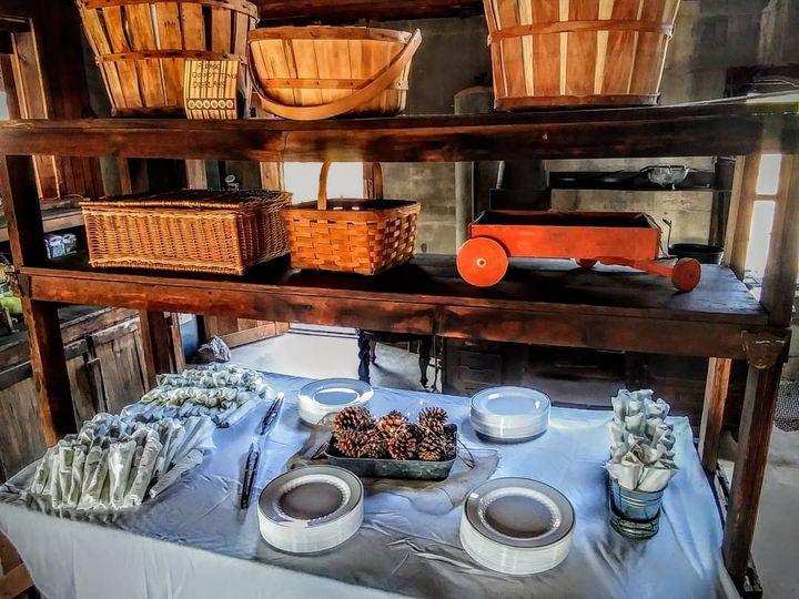Antique kitchen set up
