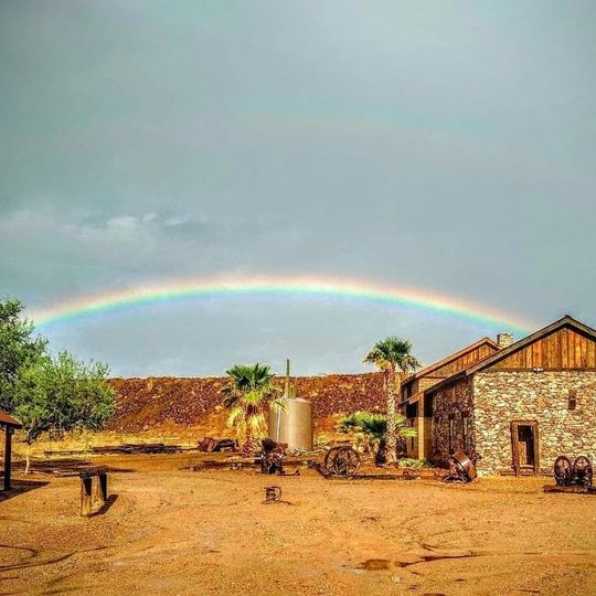Rainbow over Vulture City