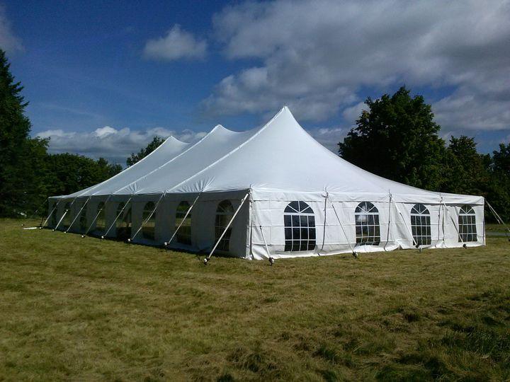 Big tent with windows