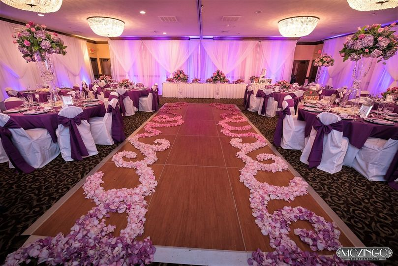 Ballroom-Fully Decorated for a ceremony & reception
