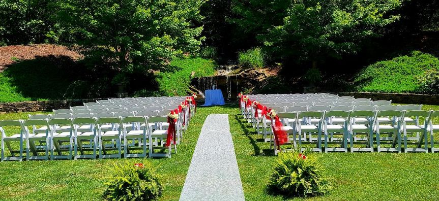 Ceremony Area in July