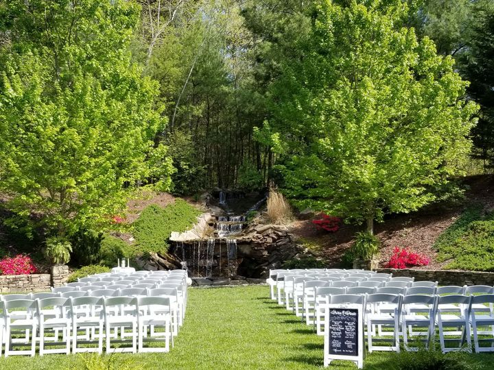 Tmx 1530035782 641c71bf2291fd92 Wedding Ceremony  Waterfall Courtyard 2018 Flat Rock, NC wedding venue