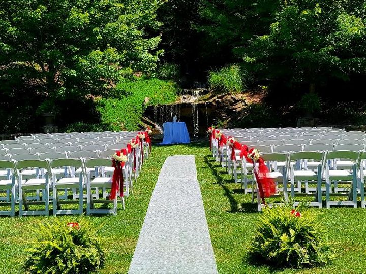 Tmx 2020 Ceremony Area Red And White Wedding 51 526715 159664429923688 Flat Rock, NC wedding venue
