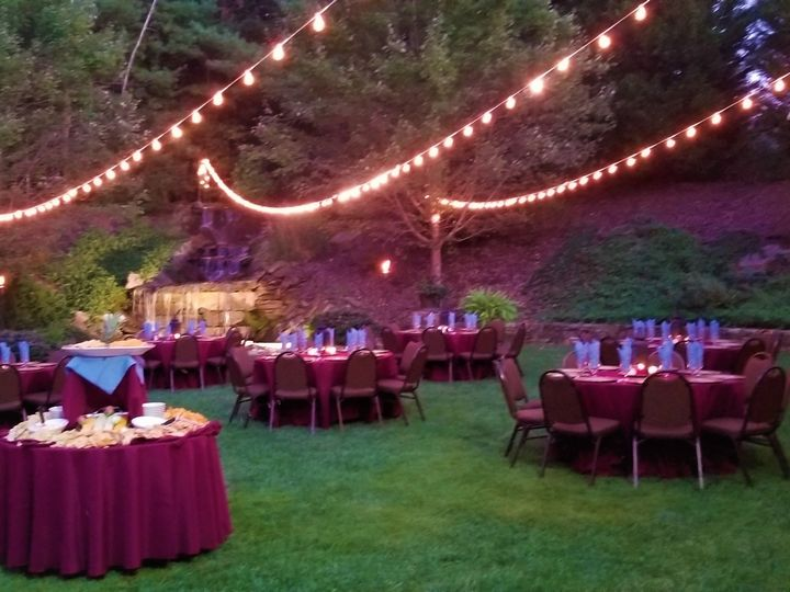 Tmx Courtyard Dinner With Lights 51 526715 1556213949 Flat Rock, NC wedding venue