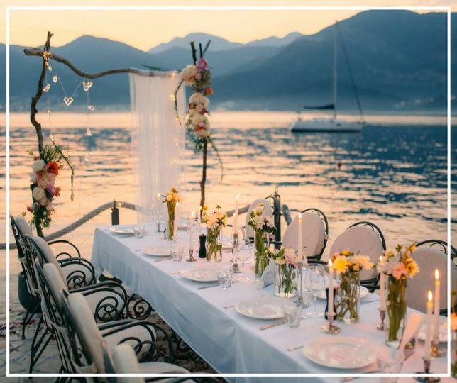 Table set for romance