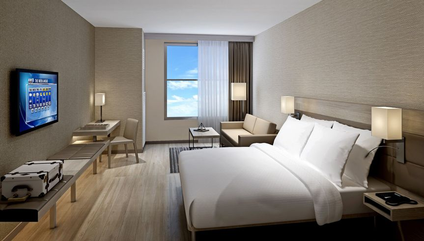 Our AC Guest rooms are brand new with sleek, modern features and amenities.