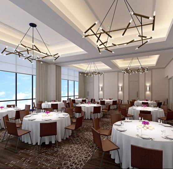 Our top-floor ballrooms with views of downtown Nashville.
