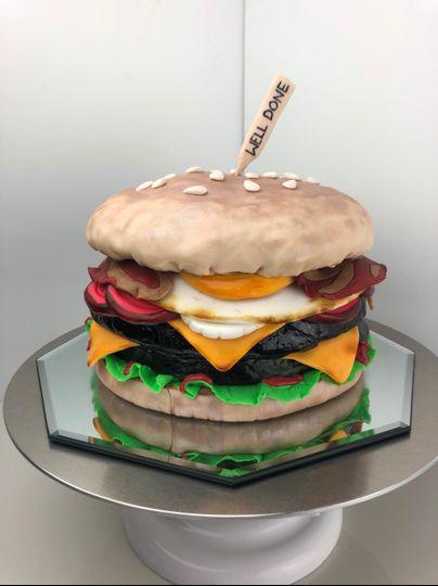Groom's Cake Beef Burger