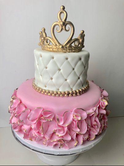 Pink & Gold Tiara Cake