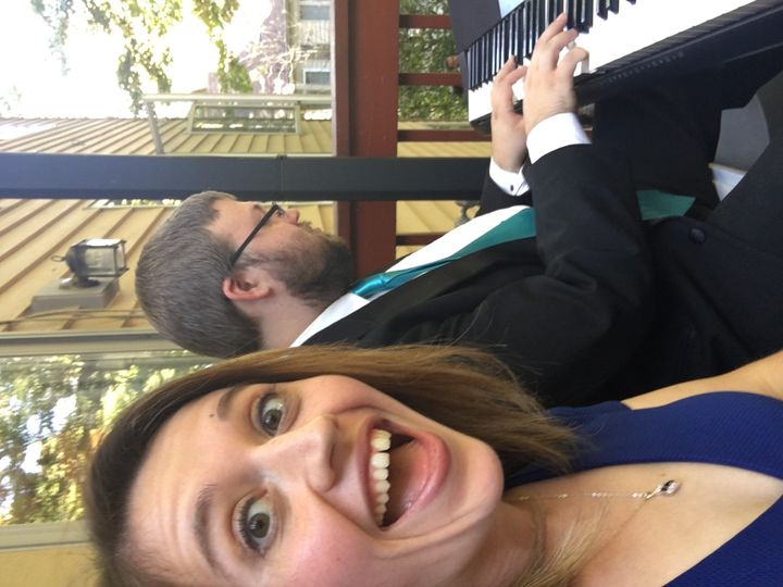 Myself and one of the singers, Ms. Natalie Rocque, at the Rollins/Massey wedding.