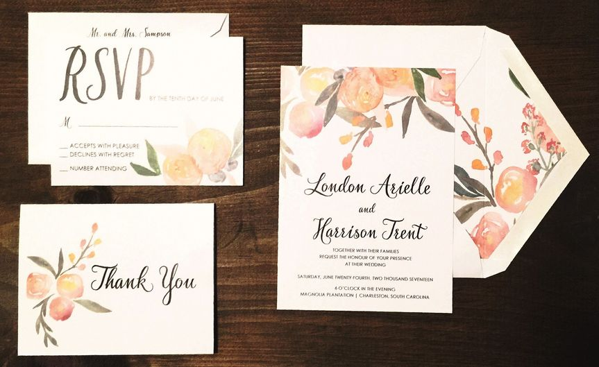 Cream colored invite