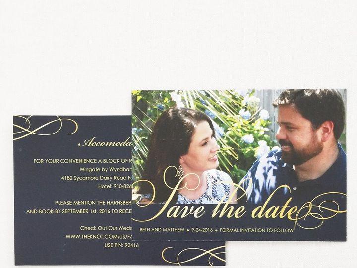 Tmx 1490996557733 1582279613594886541358986302258259838403071n Lumberton, North Carolina wedding invitation