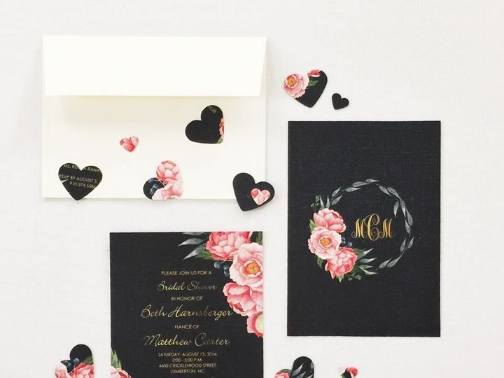 Tmx 1490996605074 158235181357452264339537515668148532481969n Lumberton, North Carolina wedding invitation