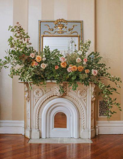 Living room flower centerpiece