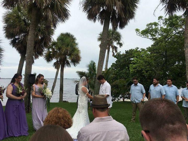Fun outdoor wedding by the sea