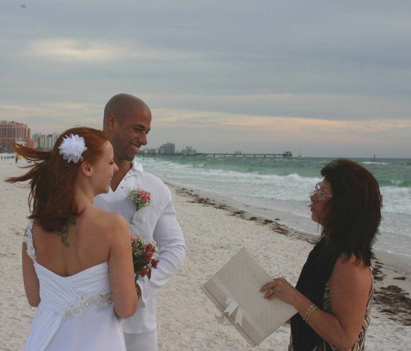 Officiating the ceremony at the beach