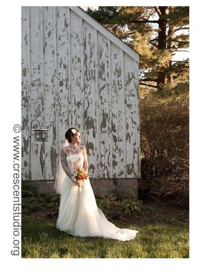 The old outbuilding makes a great photo backdrop