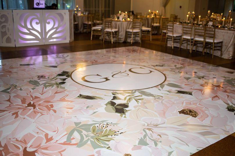 Custom dance floor