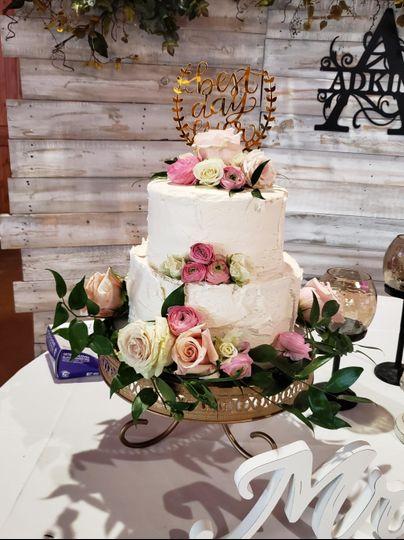 Flowers in Cake