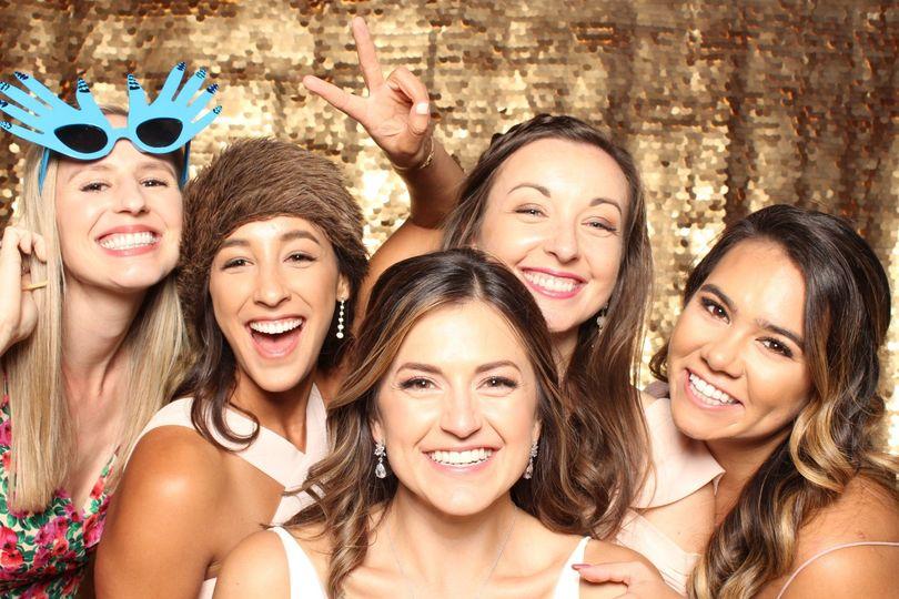 Beaming bridesmaids