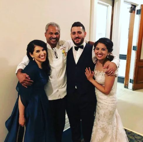 Chef Rey and happy couple