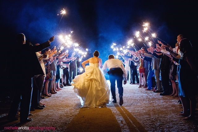 Sparkler sendoff | Photo By Michelle Arlotta
