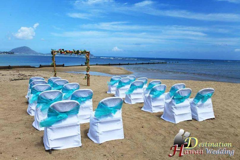 A sample beach setup on the beach near Kahala Hotel in Honolulu, Hawaii.  Location: Waialae Beach,...