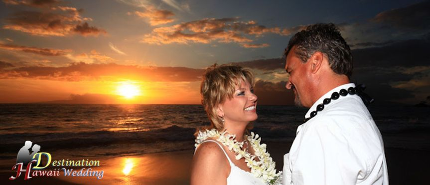 Our favorite sunset beach destination wedding location on Maui.  It's called Wailea Beach