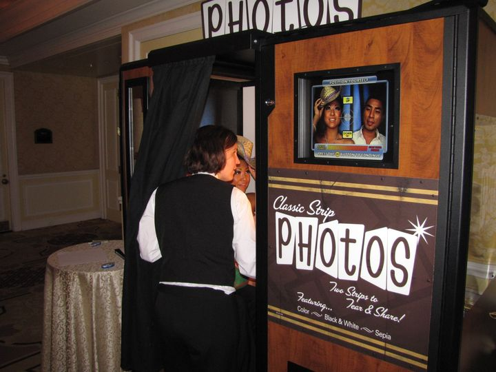 jen at the photo booth