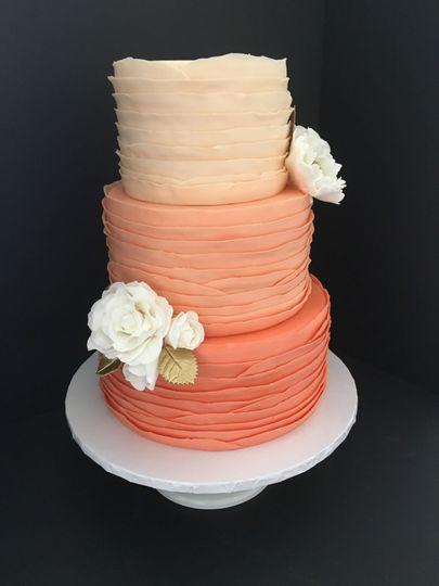 Peach gradient cake
