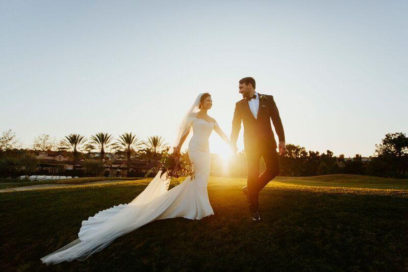 Sunset Bride & Groom