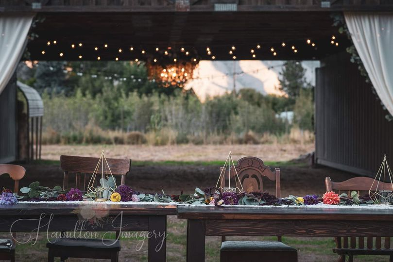 Rustic barn with views