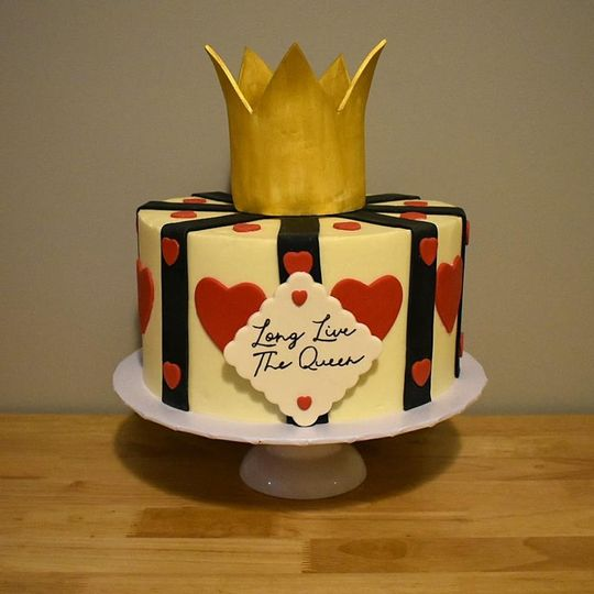 Birthday cake display