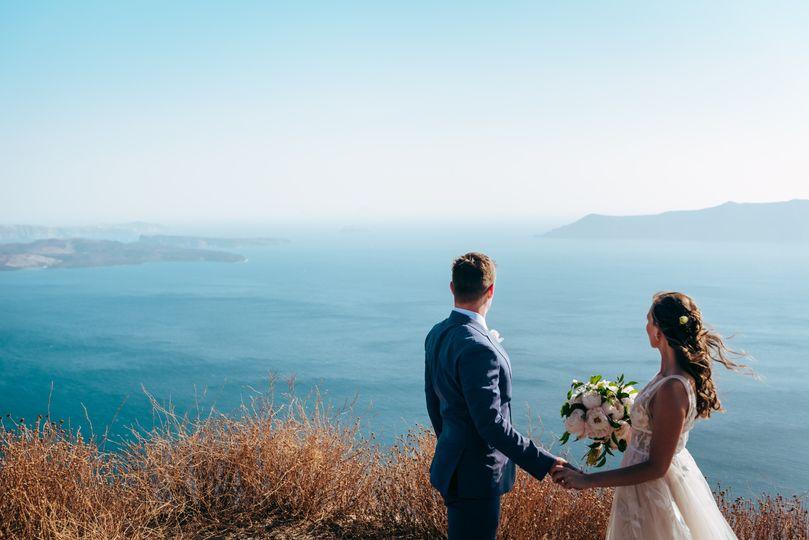 Gazing at the blue waters, Kapetanakis Photography