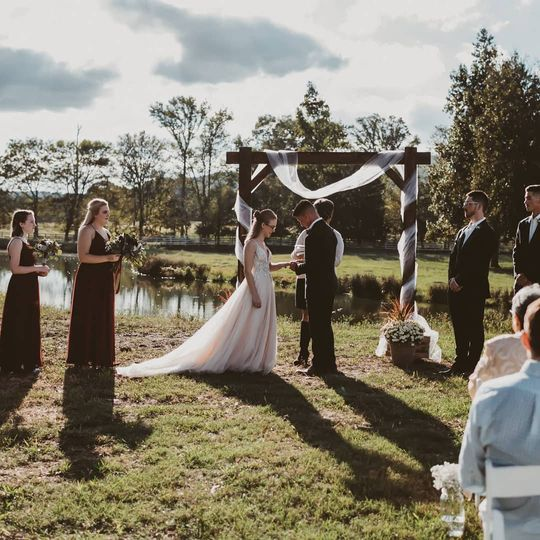 Gorgeous lake wedding