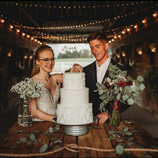 Inside barn reception