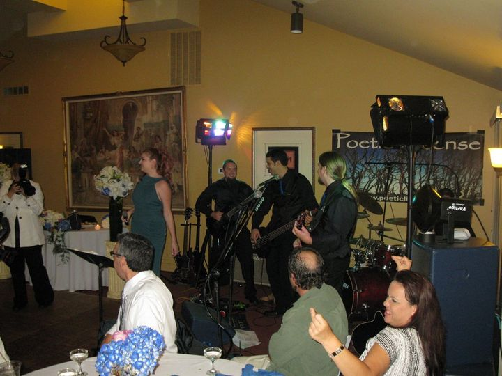 The groom and his band take the stage for a couple of songs! Escondido, CA