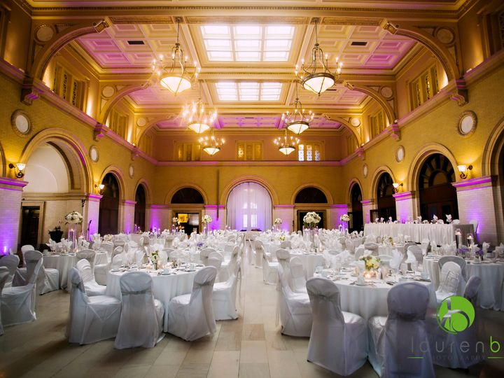 Tmx 1514566286774 Great Hall Fuscia Uplighting Minneapolis wedding venue