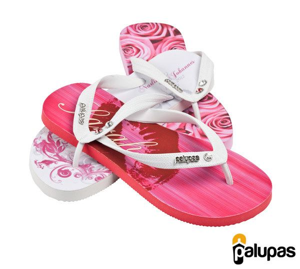 "MyFlipFlops ""Romantic"" Wedding Flip Flops"