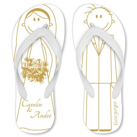 "MyFlipFlops ""Sweet Couple"" Wedding Sandals"