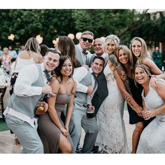 Bridal party shenanigans