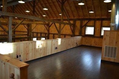 Mezzanine area of barn